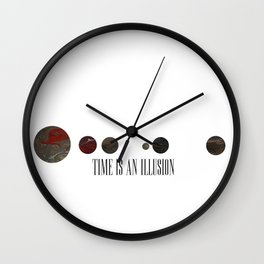 Time is an Illusion Wall Clock
