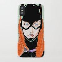 batgirl iPhone & iPod Cases featuring Batgirl by Matthew Bartlett