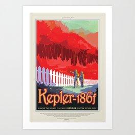Kepler-186f Art Print