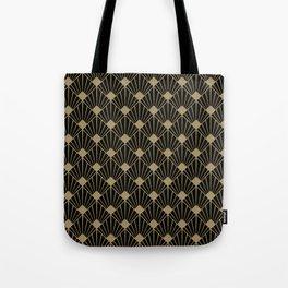 Black And Gold Art Deco Design Tote Bag