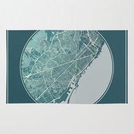 Barcelona Map Planet Rug