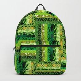 GREEN CRAZY QUILT Backpack
