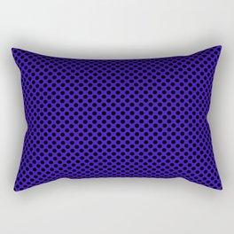 Blue Gem and Black Polka Dots Rectangular Pillow