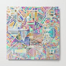 Geometric Abstract Lines Labirinth  Metal Print