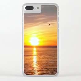 Pastel sunset over Chesapeake Bay Clear iPhone Case