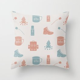 Camping (Orchard) Throw Pillow