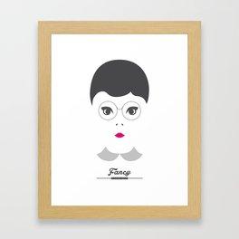 FANCY GIRL Framed Art Print