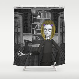 Lenore And The Raven Nevermore Shower Curtain