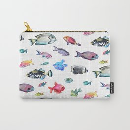 Painted Fish Carry-All Pouch