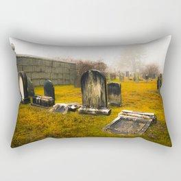 Cemetery in the Fog Rectangular Pillow