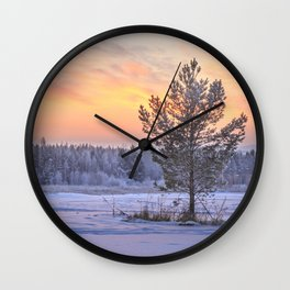 Frosty Evening Wall Clock