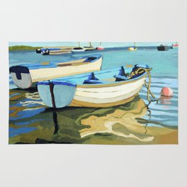 The Blue Boats Rug