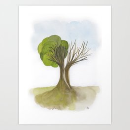 Duality Tree Art Print
