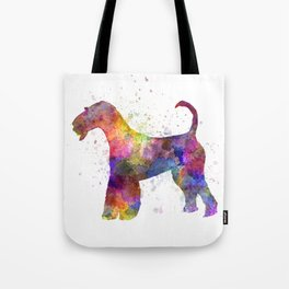 Airedale Terrier 01 in watercolor Tote Bag