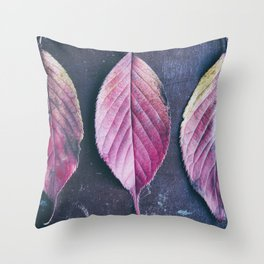 Autumn Leaves Trio Throw Pillow