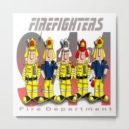 Firefighters Metal Print