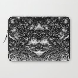 Tribal Face - Black and White Abstract Laptop Sleeve