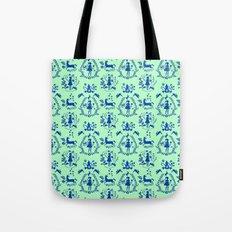 Miss Fairytale-pattern-green-blue Tote Bag