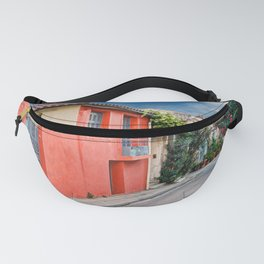The picturesque buildings of Plaka in Athens, Greece Fanny Pack