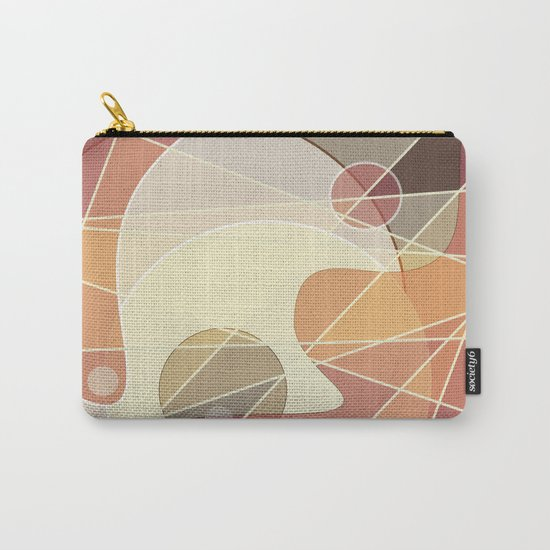 Abstract pattern in yellow and beige brown colours . Carry-All Pouch