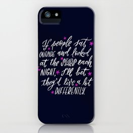 Look at the Stars - Deep Blue iPhone Case