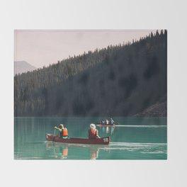 Lake Canoe Throw Blanket