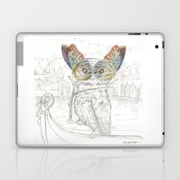 Miss Owl and butterfly friends at the Venice Carnival Laptop & iPad Skin