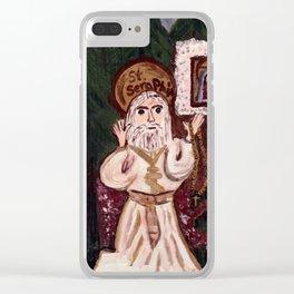 St. Seraphim of Serov Clear iPhone Case