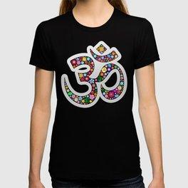 Namaste Floral Yoga Symbol T-shirt