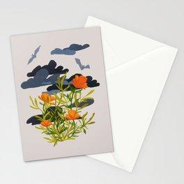 Stormy Poppy Stationery Cards