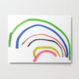 Rainbow sketch Metal Print