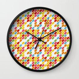 Rainbow gems geometric pattern, hexagon abstract colorful diamonds Wall Clock