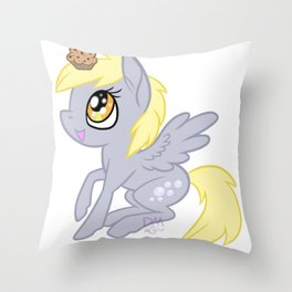 Derpy Hooves Chibi Throw Pillow