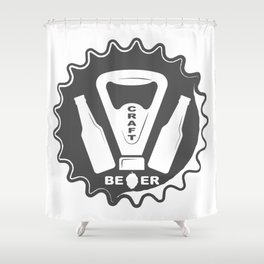 Opener Bottles with Craft Beer style Fashion Modern Design Print! Shower Curtain
