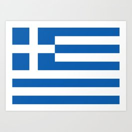 Flag of Greece, High Quality image Art Print