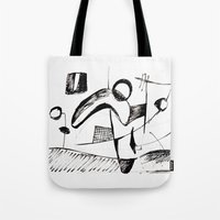 sketch Tote Bags featuring Sketch by Alexander Babayan