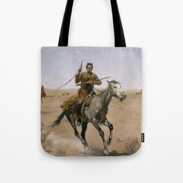"Frederic Remington Western Art ""The Flight"" Tote Bag"