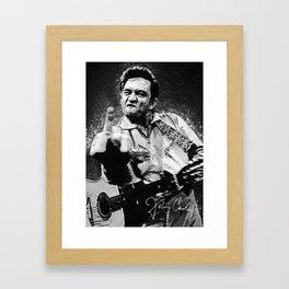 Johnny Cash Framed Art Print