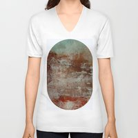 lake V-neck T-shirts featuring lake by abstractgallery