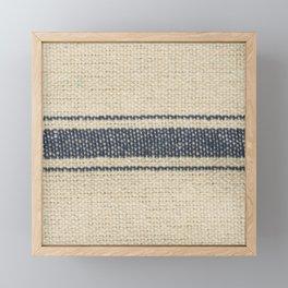 Vintage Farmhouse Grain Sack Edit Framed Mini Art Print