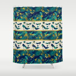 Gold and Marble High Heels Shower Curtain