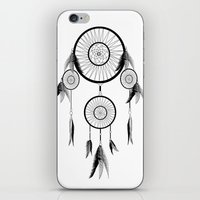 dream catcher iPhone & iPod Skins featuring DREAM CATCHER by shannon's art space