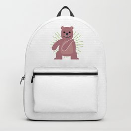 Floss Dance Move Bear Backpack