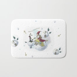Magic snowballs Bath Mat