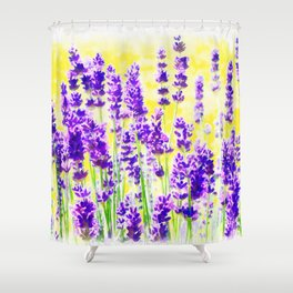 Lavender Watercolor Shower Curtain