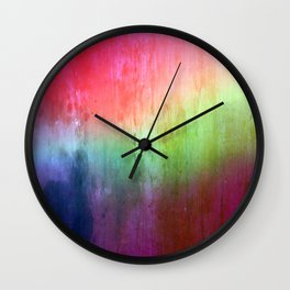 Visitor - colorful distressed abstract Wall Clock