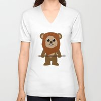 ewok V-neck T-shirts featuring Ewok forever by Bonitismo