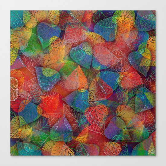 Multicolor Leaves Canvas Print