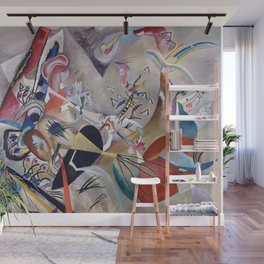 In Grey, Abstract, Wassily Kandinsky, 1919 Wall Mural