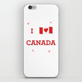 I heart Canada iPhone Skin